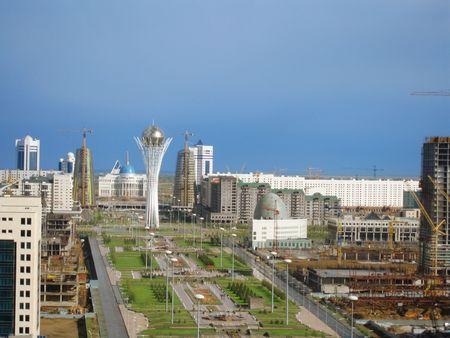 astana: Astana city panoram Stock Photo