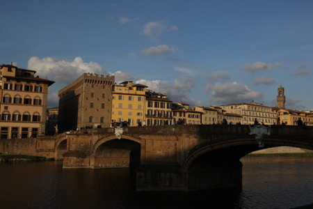 Arno River and the Ponte Santa Trinita, Florence, Italy.