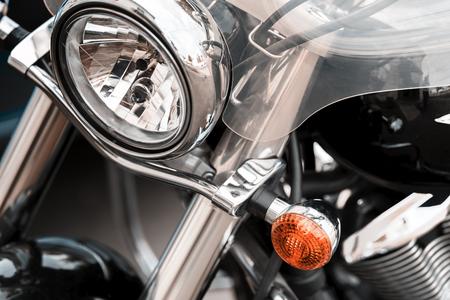 Shiny black motorcycle