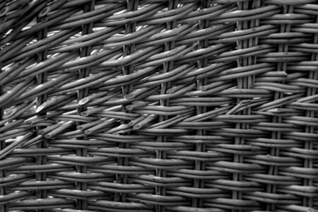 Lots of new wicker baskets. Shallow depth of field. The background is blurred. Stock Photo
