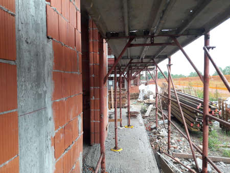 Work in progress on the construction site in summer - business