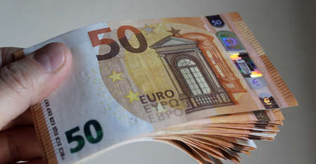 50 Euro banknotes - business and wealth
