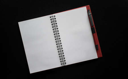 Blank pages of a new book