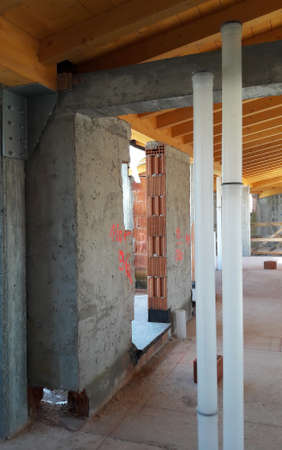 Work in progress on the construction site - building