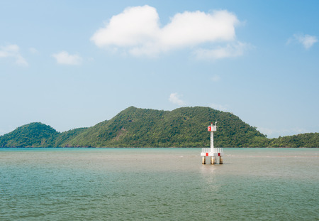 Lighthouse at beach Koh Chang photo