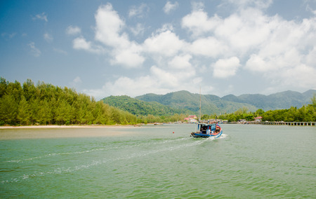 Fishing boats were returning to shore photo