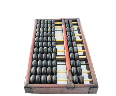 economic revival: Abacus isolated on white background