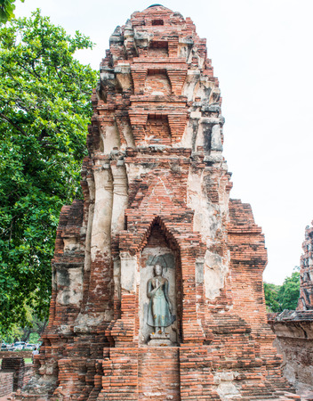 Old temple in ayutthaya Thailand photo