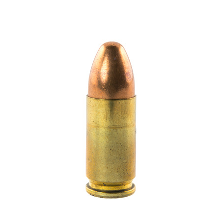 bullets isolated on white background Stock Photo