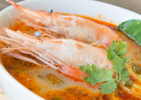 tom yum soup  thailand food hot and sour soup photo