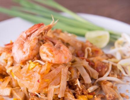 Thai style noodles  padthai photo