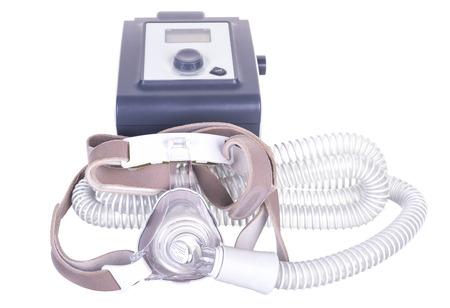 apnea: CPAP macchina per le persone con apnea del sonno. Archivio Fotografico