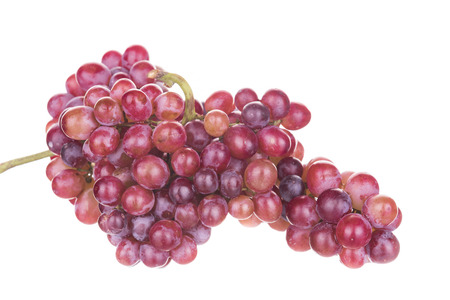 seedless: Seedless grapes taste sweet isolated on a white background.