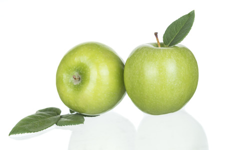 apple green: Green apples Isolated on a white background