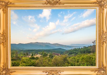 tourist destinations: Khun Wang Park is a popular tourist destinations in Thailand. Stock Photo