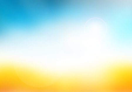 colorful water surface: Blurred nature background. Background with beaches, turquoise waters and white clouds, and a bright sun light. Summer holiday concept.