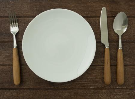 plate set on dining table Stock fotó