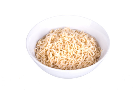 instant ramen: Instant noodles (Ramen Noodles) on white background.