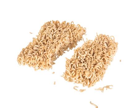 instant noodles: Instant noodles (Ramen Noodles) on white background.