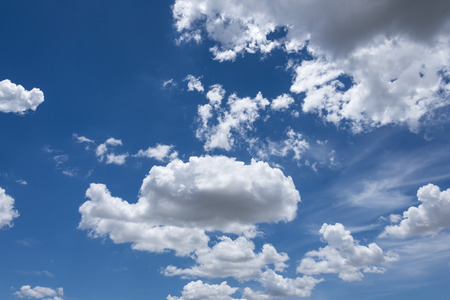 rainclouds: Abstract background of blue sky with white clouds and rain clouds.
