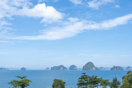 thailand view: Hong Islands, Krabi, Thailand. View of the hills.