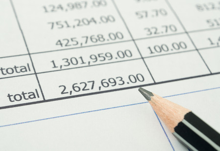 Analysis of data from the accounting numbers.