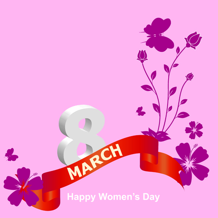 8 march: International Womens Day 8 March design