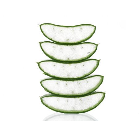 neutralize: Aloe vera sliced isolated on a white background.
