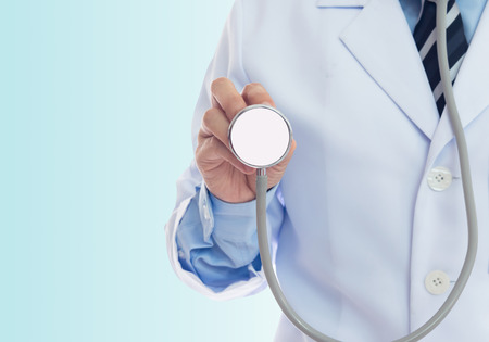Doctors are using stethoscope invited to annual health check. - can be used for display your products or promotional.
