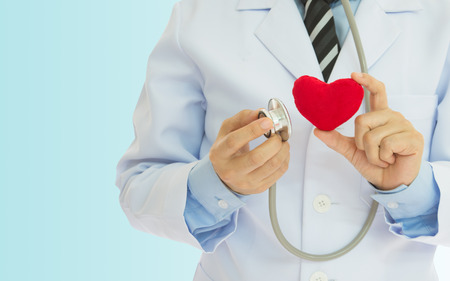 Doctors invite examination of heart disease every year. - can be used for display your products or promotional. Stock Photo