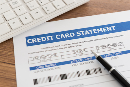 credit card invoice to due date for payment.
