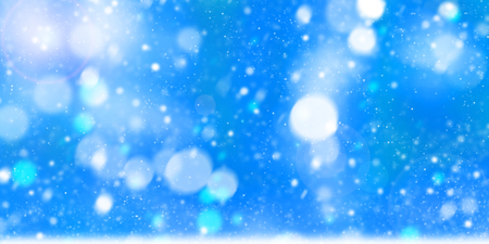 Abstract sparkling blue  bokeh blurred of colorful party lights, Christmas and new year. Standard-Bild - 116706518