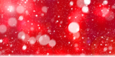 Abstract sparkling red bokeh blurred of colorful party lights, Christmas and new year. Standard-Bild - 116708297