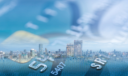 Personal loan,Finance credit concept. Credit card with business city banking and finance. Standard-Bild - 119797751