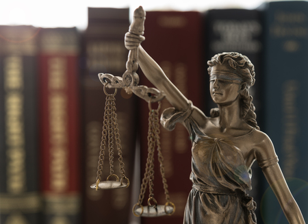 Legal,Justice,Legislation Concept. Lady of justice with law books. Standard-Bild - 119798693