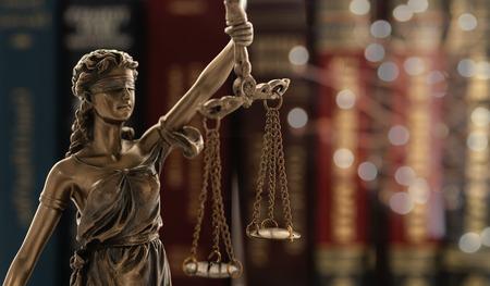 Justitie wet juridische concept.