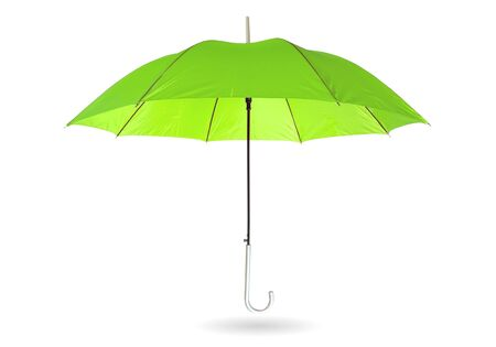 Purple umbrella isolated on white  with clipping path.