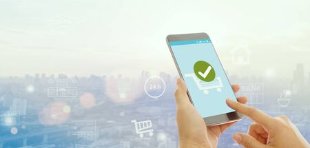 Confirmed Smartphone Order Success, Online Payment Concept. Zdjęcie Seryjne