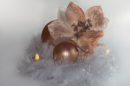 An attractive Christmas decoration in copper.