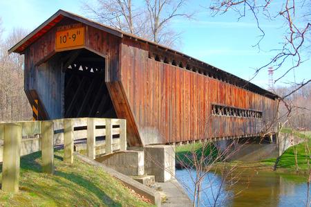rd: Benetka Rd ponte coperto Archivio Fotografico