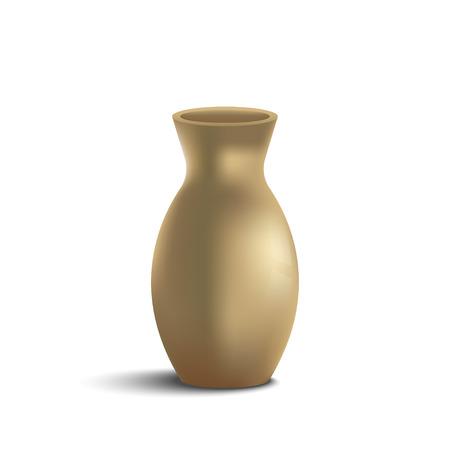 Golden Jar Gradient Mesh, Vector Illustration Illustration