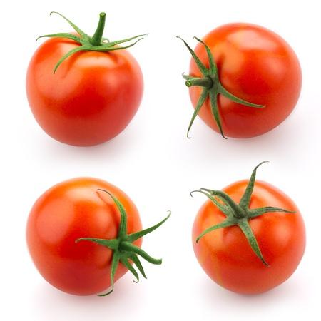 Tomato set isolated on white background