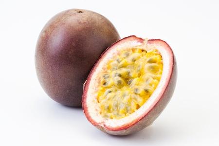Passion fruit oisolated on white  Stock Photo