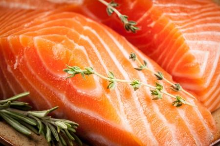 Fresh salmon  macro