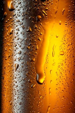 Water drops texture on the bottle of beer  Abstract background photo