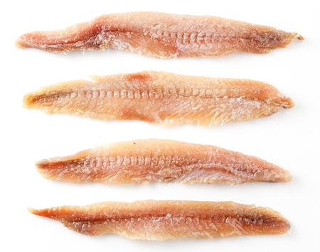 anchovy fish: Anchovy  Fillet isolated on white