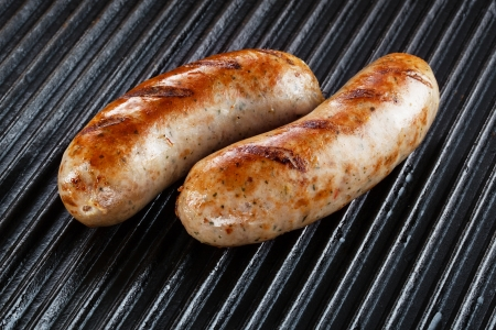 Barbecued pork sausages photo