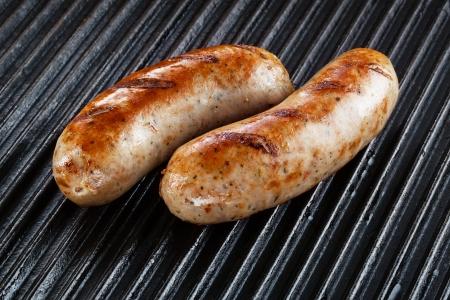 bratwurst: Barbecued pork sausages