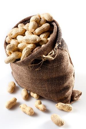 sac: peanut Stock Photo