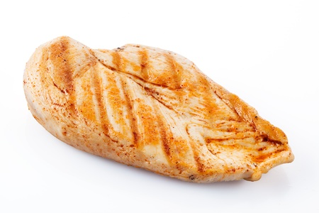 chicken breast: Grilled chicken breast with clipping path